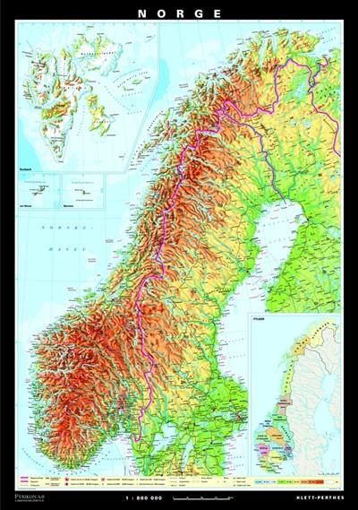 Norge kart